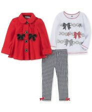 Kids Headquarters  Baby Girls 3-Pc. Fleece Jacket, T-Shirt & Leggings Set 24 Mos