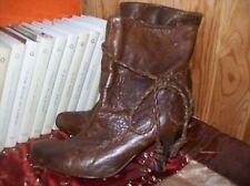 bottines plein cuir roux .taille 37. (33/AZ/GO)