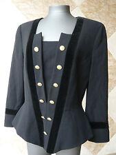 Veste de soirée  tissu  et velours noir  ESCADA  couture  -  T. 38