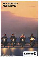 BMW Motorräder 1989 Prospekt K100RS K75S K1 K100LT R100RT R100RS R80RT R100GS GS