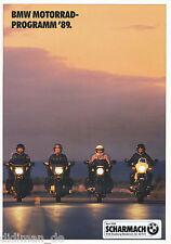 Bmw motos 1989 folleto k100rs k75s k1 k100lt r100rt r100rs r80rt r100gs GS
