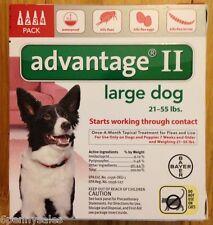 K9 Advantage 55 Flea Medicine for Medium Size Dogs 4 Month Supply Pack K-9 21 II