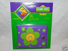 New In Package Sesame Street Big Bird Purple Wallet