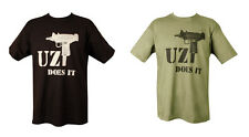 Military British Army Combat Printed T-Shirt Uzi machine Gun Iraq Infidel AK-47