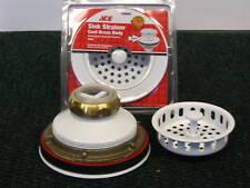 Kitchen Drain Strainer Cast Brass White Finish - White Basket