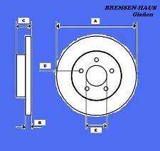 Bremsscheiben vorne Daewoo Nubira (KLAJ)  Bj 97-03