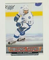 2013-14 Upper Deck YOUNG GUNS #223 ALEX KILLORN RC Rookie Tampa Bay Lightning