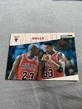 1995-96 Upper Deck CC Chicago Bulls PLAYBOOK Michael Jordan Scottie Pippen #370