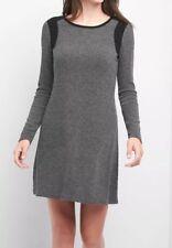 NWT Gap Ribbed Swing Sweater Dress, Charcoal Gray, XS