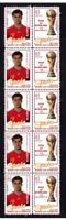 SPAIN 2010 WORLD CUP WIN MINT STAMP STRIP, LLORENTE