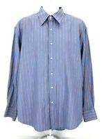 Robert Graham Mens 2XL Multicolor Striped Flip Cuff Long Sleeve Button Up Shirt