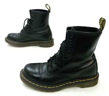 Dr Martens 11821 Smooth Black Leather Combat Boots Women's Size 7 *NICE!*