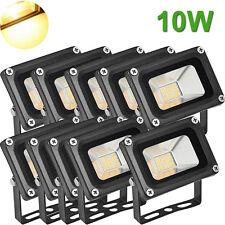 10X 10W LED Flood Light Outdoor Garden Landscape Lamp Waterproof Warm White 12V