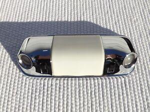1977 Ford Thunderbird chrome interior domelight/map lights & white plastic lens