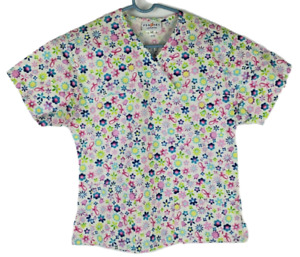 Peaches Medical Uniforms Scrub Top Soft /& Nicefitting Size XL Passion Pink