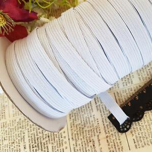 Gummiband 10m Weiß 10mm breit Wäschegummi Gummilitze kochfest Elastikkordel