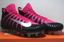 Nike Mens Size 12 Alpha Menace Elite Mid BCA Football Cleats Black Pink 918203