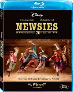 Newsies 20th Anniversary Edition (Disney Christian Bale Ann-Margret) Blu-ray