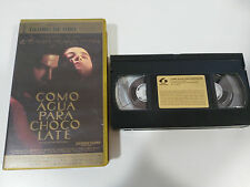 COMO AGUA PARA CHOCOLATE CINTA TAPE VHS COLECCIONISTA ALFONSO ARAU ESQUIVEL