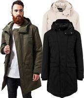 Urban Classics Men's Parka Coat Winter Jacket Long Canvas TB1461