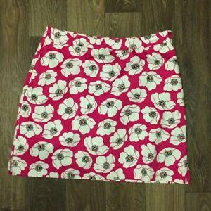EP PRO skort size 10 golf active wear raspberry pink background white floral