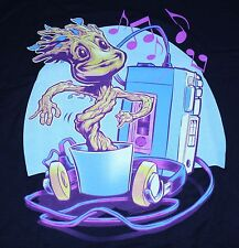 """Groovin Through The Galaxy"" Guardians Groot Men's Large Shirt Teevillain"