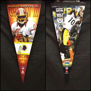 """NFL  Choose Your Team 12"""" x 30"""" Premium Player Pennant By Wincraft Sports"""