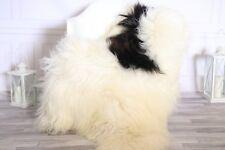 Genuine Natural Beige Brown Icelandic Sheepskin Rug long fur #ISLSH26