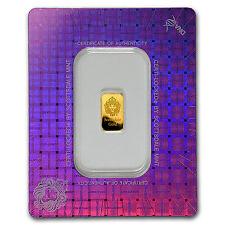 1 gram Gold Bar - Scottsdale Mint (In Certi-Lock® Assay) - SKU #97650