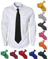 Plain Clip On Tie Clipper - Regular and XL Extra Long Length Matte