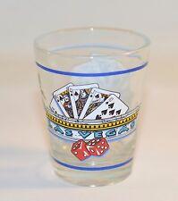 Las Vegas Souvenir Collectible Shooter Shot Glass Clear Glass