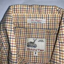 Vintage Gant Hugger Checker Button Down Shirt Mens Medium