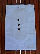 Chemise col Mao manches courtes Khmer 100% coton 3 boutons scarf Cambodge Asie