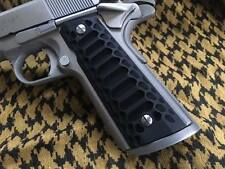 """1911 Grips fits Government and Commander """"COBRA  MAGWELL"""" Black Finish"""