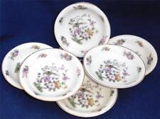 Vintage Rosenthal Continental Ivory Bavaria 6 Fruit Bowls Bird Floral