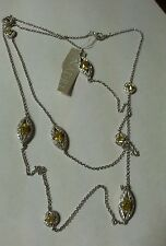 NADRI CLEAR AND YELLOW SWAROVSKI CRYSTAL 30 inch NECKLACE