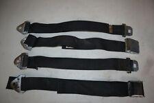 Vintage Black Weave Seatbelts (Complete Set) for 1953-67 Corvettes & Other Cars