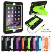 Shockproof Military Heavy Duty Rubber With Hard Stand Case Cover For iPad 2/3/4