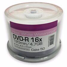 50 Ritek Excellence Series Blank DVD-R 16x White Waterproof Printable discs