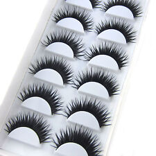 New Beauty 6 Pairs Long Party Fake Eyelashes Nightclub Reusable False Eyelashes