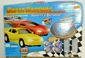 ARTIN SUPER SPEEDWAY CHEVY CAMARO VS. FORD MUSTANG SLOT CAR SET BOXED 1980s