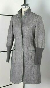 BRUNELLO CUCINELLI WOMEN JACKET UK10 IT42 TAILORED COAT WOOL CASHMERE KNIT ITALY