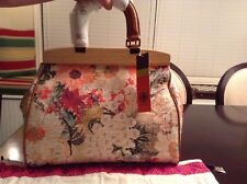 Tory Burch Floral Printed Cotton Tote Large