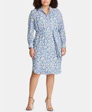 LAUREN Ralph Lauren Plus Size Floral Georgette Dress 200$ Size 22W