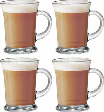 Set of 4 Aroma Mugs Tea Coffee Beverage Latte Hot Chocolate Drinks Glass Cups