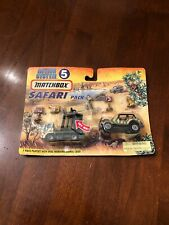 Rare Matchbox Action System 5 Safari Pack - Skip Truck w/Cage & Jeep 4x4
