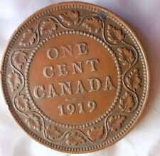 1919 CANADA CENT - High Grade Collectible - FREE SHIP - Canada Bin YY