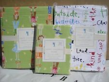 POTTERY BARN KIDS TWIN 5 PIECES HAPPY CHILDREN & PLAY OUTSIDE BEDDING SET