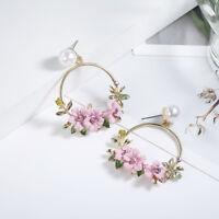 Jewelry Stud Personality Fashion Ear Women Temperament Earrings Charm Flower