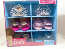 Barbie Shoe & Tiara Set: 2 Tiaras & 4 Shoes New